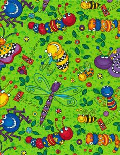 Happy Bugs by 245 Design - Our Fabrics | TIMELESS TREASURES