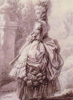 """""""Marie Antoinette"""" by Madame Vigée Le Brun, ca. 1780"""