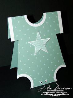 Julie's Stamping Spot -- Stampin' Up! Project Ideas by Julie Davison: Onesie Card