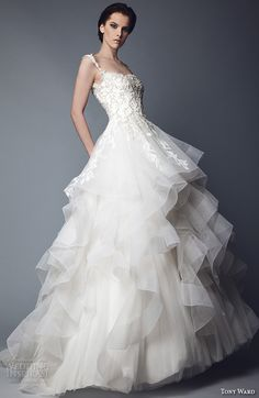 """Tony Ward 2016 #Wedding Dresses — """"Abstract Roses"""" #Bridal Collection 
