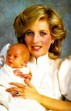 Diana And Baby Harry Back In 1984 - princess-diana Photo
