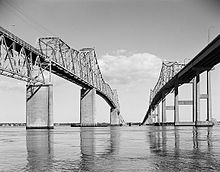 Another view of the old Charleston bridges .. ( from hell )