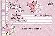 tarjetas baby shower niña para imprimir gratis