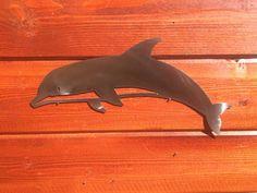 Dolphin Metal Wall Art Ocean Nautical Marine Sea Life by SkilWerx