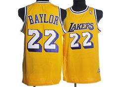 720d7cd7ab7 Mitchell and Ness Lakers #22 Elgin Baylor Stitched Yellow Throwback NBA  Jersey Nba Sports,