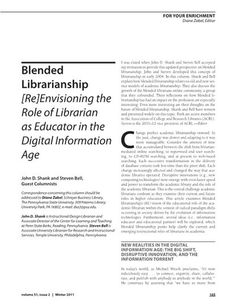 RUSA - Re-envisioning the Role of the Librarian as Educator in the Digital Age