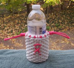 Paracord Cozy  Pink Ribbon by GeniusDesignsStudios on Etsy