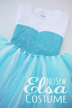 diy no sew elsa costume. Would be neat to add the number to center of shirt.