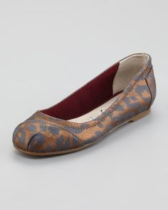 Ramsey Leopard-Print Leather Ballerina Flat by TOMS at Neiman Marcus.