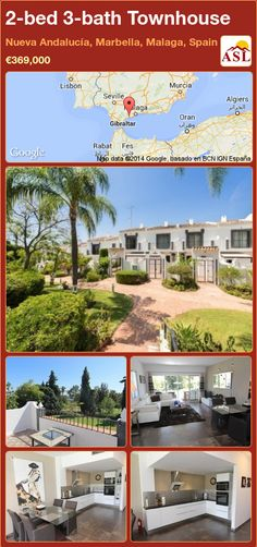 Townhouse for Sale in Nueva Andalucía, Marbella, Malaga, Spain with 2 bedrooms, 3 bathrooms - A Spanish Life Marbella Malaga, Open Plan Kitchen Diner, Pleasant View, Puerto Banus, Malaga Spain, Famous Beaches, Spanish Style Homes, Andalucia, Double Bedroom