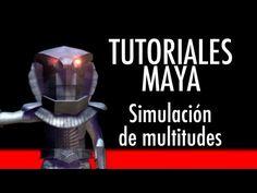 Simulación de multitudes en Maya.