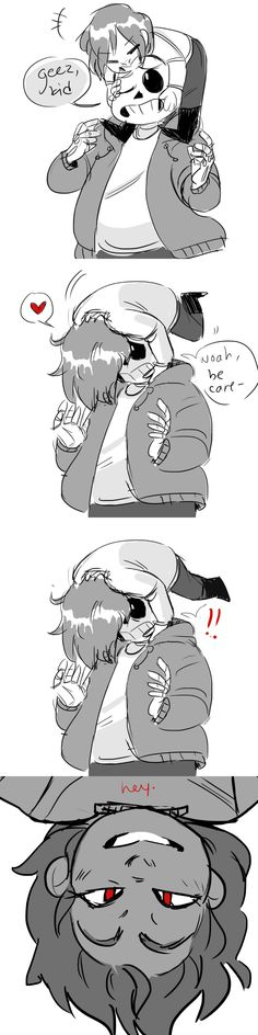 Sans and Chara - comic - http://m1nktank.tumblr.com/post/131674315960/sorry-sans