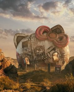 Prague 3D illustrator Filip Hodas has created a brilliant collection of artwork imagining pop culture icons that have been abandoned in a post-apocalyptic world.