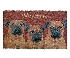 Zerbino rettangolare in cocco Chien - 75x45x2 cm Pug Mops, Home Living, Pugs, Home Decor, Decoration Home, Room Decor, Pug Dogs, Home Interior Design, Pug