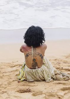 Imagen de tattoo, beach, and jhene aiko