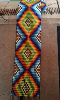 Bead Loom Bracelets, Beaded Bracelet Patterns, Bead Loom Patterns, Beading Patterns, Native American Patterns, Native American Beadwork, Peyote Beading, Tapestry Crochet, Bead Art