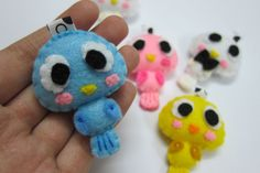 Cute Bird V1 Keychain/Ornament, Magnet - Mason, Liam, Emma.