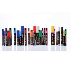 Posca Pens in a variety of sizes and colours available at Tagster.co.uk