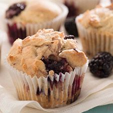 Tender, delicious blackberry muffins — gluten-free, so everyone can enjoy them!