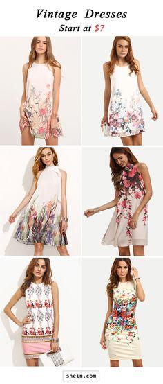 Vintage dresses start at $7!