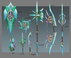 Elf City - Design Document 4 - News - RuneScape Fantasy Sword, Fantasy Art, Elf City, Crystal Sword, Sword Drawing, Character Art, Character Design, Armas Ninja, Cool Swords