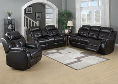 TROY The Troy living room collection is the perfect solution for the comfort conscious consumer. Dark brown reconstituted leather covers a soft architectural silhouette . Find the perfect combination for any living room with a dual reclining sofa, dual reclining loveseat with storage console and cup holders, reclining armchair, or queen sleeper sofa. Recliners are available in power or manual.