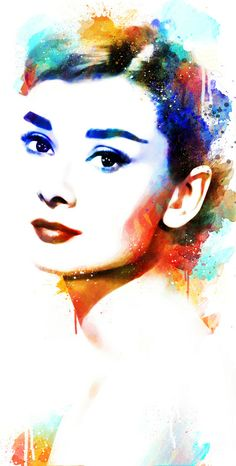 Audrey Hepburn - Michael Akers (Links to his Society6 store.) :-)