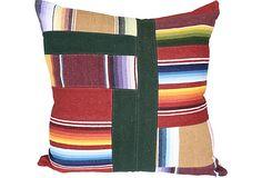 Serape Patchwork Pillow