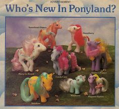 Who's New in Ponyland? - Pinned from the My Little Pony scrapbook. :)