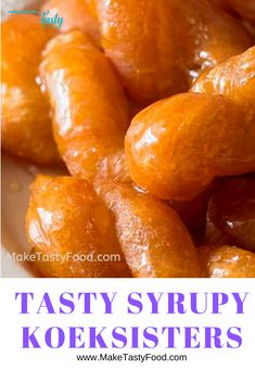 Tasty Syrupy KoekSisters, are crunchy on the outside and soft and melting on the inside, drenched in sugar syrup. A favorite recipe and treat. My Recipes, Sweet Recipes, Cooking Recipes, Favorite Recipes, South African Desserts, South African Recipes, Koeksisters Recipe, Homemade Sweets, Tasty