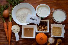 Mrkvový chlebíček so škoricovým tvarohom (Recept) – Fitclan Stevia, Dairy, Cheese, Food, Basket, Essen, Meals, Yemek, Eten