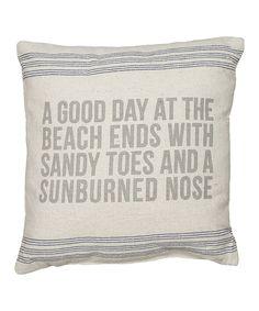 'Sunburned Nose' Throw Pillow