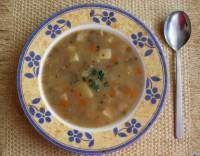 Čočková polévka s bramborami Cheeseburger Chowder, Soup, Soups