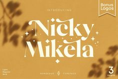 Mikela - 50% OFF Gorgeous Typefaces