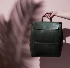 JEAN LEATHER BACKPACK FOREST GREEN