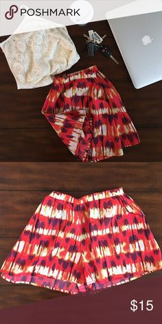 Mimi chic: Adorable summer shorts  Colorful summer shorts. Worn a few times , good condition . These fun shorts flowy shorts are super cute with just flip flops and tank top or even as a bathing suit cover up  Mimi Chica Shorts