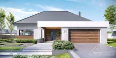 Moderna lepotica Kuća koja će vas osvojiti na prvi pogled Modern House Plans, Modern House Design, Style At Home, Single Floor House Design, Circle House, One Storey House, Mid Century Exterior, Architectural House Plans, Beautiful Home Designs