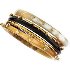 Exclusive JJW Bronze & Horn Bangle Set