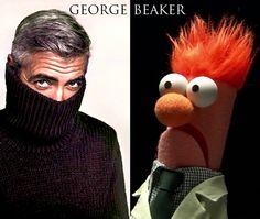 George Clooney vs. Muppets Beaker