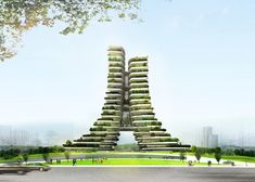 Translucent block tower infused with greenery to combat pollution in Ho Chi Minh City | Inhabitat - Green Design, Innovation, Architecture, Green Building