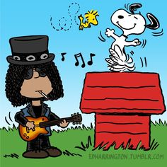 Slash and Snoopy cartoon edits Gifs Snoopy, Snoopy Images, Snoopy Pictures, Snoopy Quotes, Snoopy Und Woodstock, Charlie Brown Und Snoopy, Guns And Roses, Charly Brown Personajes, Snoopy Wallpaper