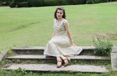 Apricot Rose 1950s style dress from Lovebirds Vintage blog
