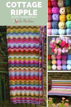 Haak deze prachtige golven in dit haakpatroon voor een deken. De deken kan aangepast worden voor jouw eigen lievelingsmateriaal en -kleuren. Maak de deken zo smal of breed en lang of kort als je zelf wilt. De deken is een prachtig cadeau en staat geweldig in elk interieur. Van deze deken zijn een aantal kleurenvarianten beschikbaar zodat ook jij je kunt laten inspireren om een prachtige kleurencombinatie te selecteren. De website van Een Mooi Gebaar staat vol schitterende haakpatronen!