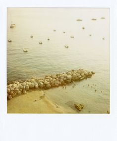 """""""Capri Beach 2""""    Limited Edition Fine Art Polaroids shot by Patrick Cline for Lonnymag.com during their travel adventures. These reproductions from the original Polaroids are enlarged to 20x24"""" include white Polaroid border, and are front Plexi-mounted 1/8"""" ready to hang. This piece is # 1 in an Edition of 200."""
