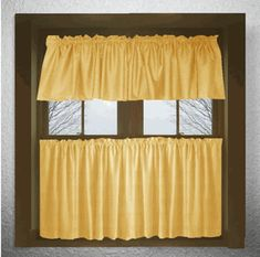 Gold Custom Made Cafe Curtains