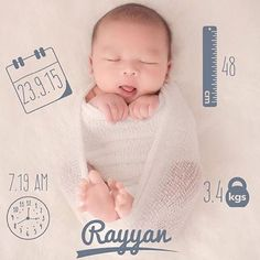 We are melting over here! This birth announcement @ela_faizal made with our app is absolutely incredibly adorable!!!  Download the app now @BabyPicsApp to capture your pregnancy & baby milestones! (Link in our bio ) #BabyPicsApp