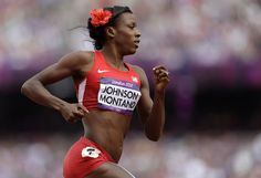 Olympian Alysia Montano on why she always wears a flower in her hair :) what a strong role model!