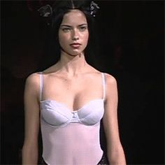 Adriana Lima, first Victoria's Secret Fashion Show, 1999.
