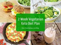2 Week Diet Plan - 2 Week Vegetarian Keto Diet Plan - A Foolproof, Science-Based System thats Guaranteed to Melt Away All Your Unwanted Stubborn Body Fat in Just 14 Days.No Matter How Hard You've Tried Before! Vegetarian Ketogenic Diet, Veggie Keto, Vegan Keto Diet Plan, Keto Diet For Vegetarians, Ketogenic Meals, Veggie Meals, Diet Recipes, Vegetarian Recipes, Vegetarian Italian