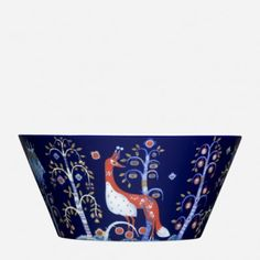 Iittala Taika Oz Pasta Bowl, Blue/Multi, Crafted by skilled artisans of glossy vitro porcelain, this stunning bowl will draw attention with its artful enchanted forest motif. Blue Dinnerware, Casual Dinnerware, Eclectic Dinnerware, Blue Magic, Magic S, Blue Bowl, Silk Screen Printing, Marimekko, Serving Bowls